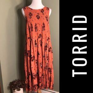Torrid 6 dress. Sleeveless orange